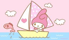 """""""Sailing under Pink Sky"""", as collected via Sanrio on 08/06/2015"""