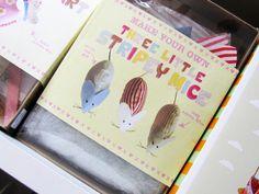 Kit de ftela y fieltro, ratoncitos. Kit fabric and felt little stripey mouse