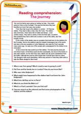 Reading comprehension: The journey