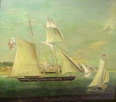 USRC McLane, 1832, 73 ft. Top-Sail Schooner her Commanding Officer Josiah Sturgis, known for his many rescues of both people and ships.