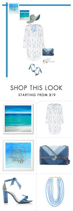 """""""Beach Trip"""" by southindianmakeup1990 ❤ liked on Polyvore featuring Heidi Klein, STELLA McCARTNEY, Alexandre Birman and BaubleBar"""