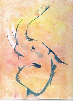 watercolor elephant | Elephant watercolor