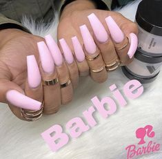 Nails pink Image uploaded by Reddheadd. Find images and videos about long nails, pink nails. Image uploaded by Reddheadd. Find images and videos about long nails, pink nails and acrylic nails on We Heart It - the app to get lost in what you love. Dope Nails, My Nails, Heart Nails, Gorgeous Nails, Pretty Nails, Barbie Pink Nails, Pink Acrylic Nails, Glitter Nails, Pink Acrylics