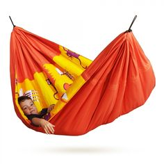Super Easter treat idea - this kids hammock rocks! Not only is it really cool looking it is organic soft cotton and it is completely padded which can convert into a blanket!
