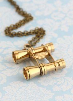Binoculars Necklace Charm Necklace Travelers