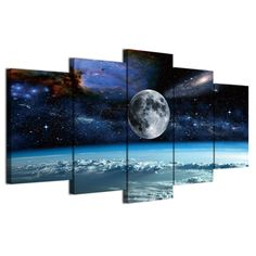Style: Modern  Subject: Landscape  Material: Canvas  Type: Canvas Printing  Shape: Irregular  Frame: With Frame  #artwork #artprints #canvasprints #homedecor 5 Piece Canvas Art, Canvas Artwork, Framed Artwork, Canvas Prints, Art Prints, Landscape Materials, Canvas Wall Decor, Earth From Space, Canvas Home