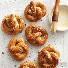 Healthy game-day snacks featuring this recipe for delicious Italian Parmesan Pretzels.