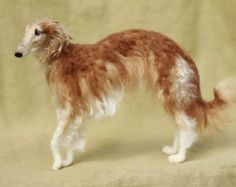 Needle felted dog custom portrait pose-able wool by Ainigmati