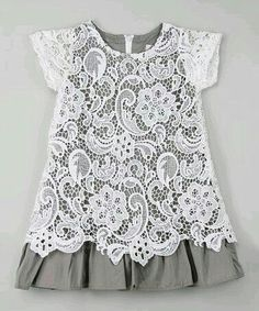 This White & Gray Lace Overlay Dress - Infant, Toddler & Girls by Blossom Couture is perfect! Fashion Kids, Little Girl Fashion, Toddler Fashion, Toddler Outfits, Kids Outfits, Little Girl Dresses, Girls Dresses, Lace Overlay Dress, My Baby Girl