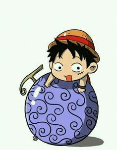 Luffy - - One Piece Chibi Cute Naruto Chibi, Chibi Manga, Manga Anime, Chibi Bts, Nami One Piece, One Piece Anime, Anime One, One Piece Images, One Piece Pictures