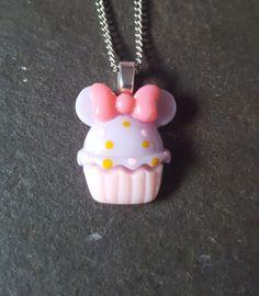 Cute Cupcake Resin Pendant Necklace - Lilac