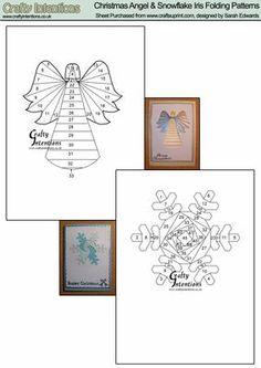 Christmas Angel Snowflake Iris Folding Patterns on Craftsuprint designed by…