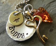 Personalized Horse Charm Necklace Crystal by EquineExpressionsbyD, $30.00