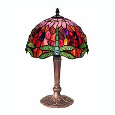 Warehouse of Tiffany 305C+MB45 TiffanyStyle Dragonfly Table Lamp