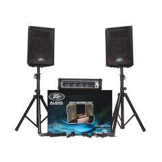 Peavey Audio Performer Pack Includes PVi® mixerTwo PVi® 10 speaker enclosures Two PVi® 100 dynamic cardioid microphones Two speaker stands Best Dj Speakers, Mixer Dj, Loudspeaker Enclosure, Dj Setup, Professional Audio, Dj Equipment, Speaker Stands, App, Beautiful Roses