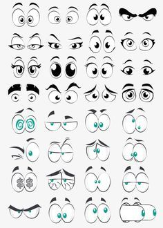 Eyes Cartoon Png : cartoon, Cartoon, Collection, Element,, Clipart,, Eyes,, Round, Transparent, Image, Clipart, Download, Illustration,, Drawing