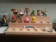 A spot for his Amiibo Amiibo Display, Lego Display, Video Game Organization, Nerd Room, Nintendo Amiibo, Diy Gifts For Boyfriend, Inspirational Gifts, Game Room, Kids Room