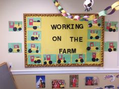 Shape tractors: We cut out various shapes and allow the children to create a tractor to help the farmer work on the farm. May also tie this into a discussion about the importance of a farmer and the tools he need to work on the farm.