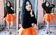 Orange fairy skirt - Aditi Budhathoki People Around The World, Real People, Fairy Skirt, Pretty Face, Dress To Impress, Skater Skirt, Tulle, Ballet Skirt, Rock