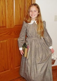 ELISA - Mary and Laura Ingalls Style Girls Prairie Dress/Girls Pioneer Dress/Sizes 6-12. $63.00, via Etsy.