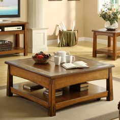 Have to have it. Riverside Craftsman Home Square Lift Top Cocktail Table - Americana Oak - $693 @hayneedle