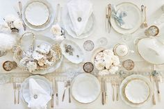 Rachel Ashwell Shabby Chic Couture - white table setting