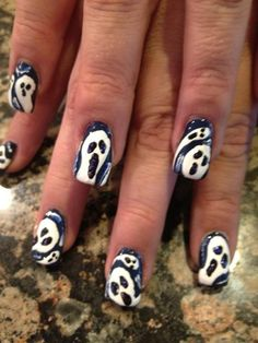 Scream Ghosts - Nail Art Gallery