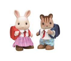 Sylvanian Families 5170 Set Schüler 2 Figuren Mädchen Hase + Junge Eichhörnchen - Bonuspunkte sammeln, auf Rechnung bestellen, DHL Blitzlieferung!