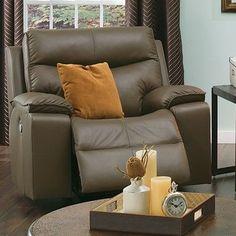 Palliser Furniture Providence Wall Hugger Recliner Upholstery: Bonded Leather - Champion Mink, Leather Type: Bonded Leather, Type: Power