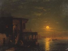 Lunar night at the sea, 1875 Ivan Aivazovsky