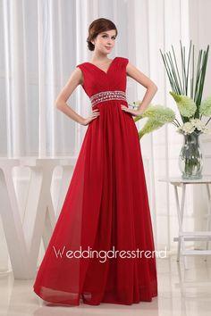 Sexy V-Neckline Chiffon Prom/Evening Dress http://www.weddingdresstrend.com/en/sexy-trumpet-v-neckline-chiffon-prom-evening-dress.html #prom dress