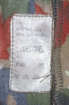 Swiss Army alpenflage trousers 34 X 30 FAG 1985