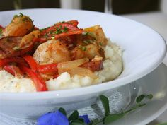 local shrimp, smoked sausage, bell peppers, stone ground grits, tasso ham gravy - Virginia's on King
