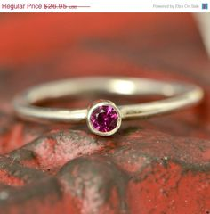 Labor Day Sale July Birthstone Ring  Red by TheJewelryGirlsPlace, $21.56