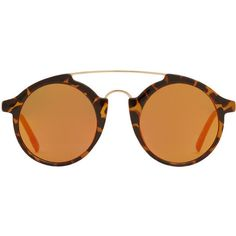 Combi Sunglasses ($26) ❤ liked on Polyvore featuring accessories, eyewear, sunglasses, mirrored lens sunglasses, uv protection sunglasses, round frame sunglasses, round sunglasses and round frame glasses