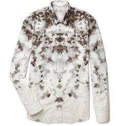 Alexander McQueenAbstract Ivy-Print Shirt|MR PORTER