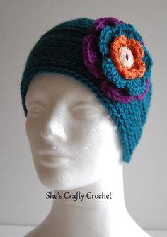 "find the free pattern at www.facebook.com/shescraftycrochet ""Your new favorite headband, headband"""