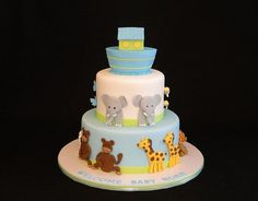 Noah's ark cake Baby Shower or Birthday Cake