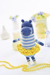 Gracey ballerina  by Irene Strange Practise and perfect amigurumi by making Irene Strange's happy hippo
