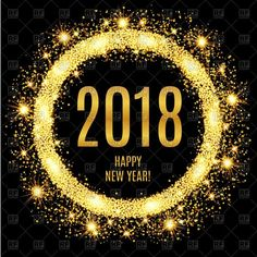 DesertRose,;,Vector image of 2018 Happy New Year glowing gold background #153352 includes graphic collections of gold and 2018. You can download this image in EPS and JPG format,;,