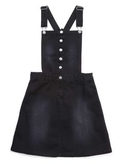 Girls Black Pinafore Dress - BHS