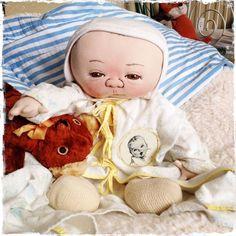 Jan Shackelford OOAK Cloth Doll Gerber Baby Series 2009 Limited Edition 2 of 13