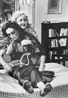 Joan Crawford and Bette Davis in What Ever Happened to Baby Jane?, 1962