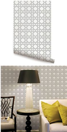 Geometric Gray Peel and Stick Wallpaper  - Wall Sticker Outlet