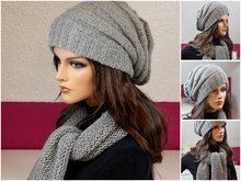 Modern Slouchy Hat with Scarf/Loop Scarf Knitting pattern by KnitworkByIna - Stirnband Stricken Knitting Patterns Free, Free Knitting, Hat Patterns, Felt Boots, Loop Scarf, Slouchy Hat, Knitted Hats, Crochet Hats, Recipes