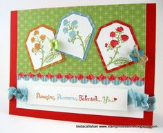 Like the use of the tags at angles rather than in a row - Stampin' Seasons; pocket silhouettes