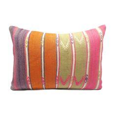 Gem Striped Kilim Lumbar Pillow