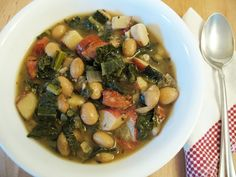 Favorite Soup Recipe: Hearty Kale and Sausage Soup. I've substituted sausage for Whole Foods mild chicken sausage, herbs listed for Herbs de Provence