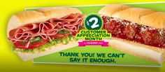"Subway: 6"" Cold Cut Combo or Meatball Marinara Subs just $2.00 in December"