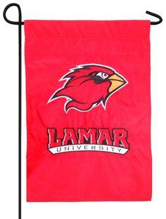 IAmEricas Flags - Lamar University Applique Garden Flag, $15.00 (http://www.iamericasflags.com/products/lamar-university-applique-garden-flag.html)